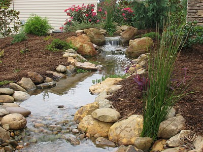 Pondless streams rivers brooks the pond doctor for Koi pond builders greenville sc