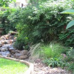 Pondless waterfall and landscape