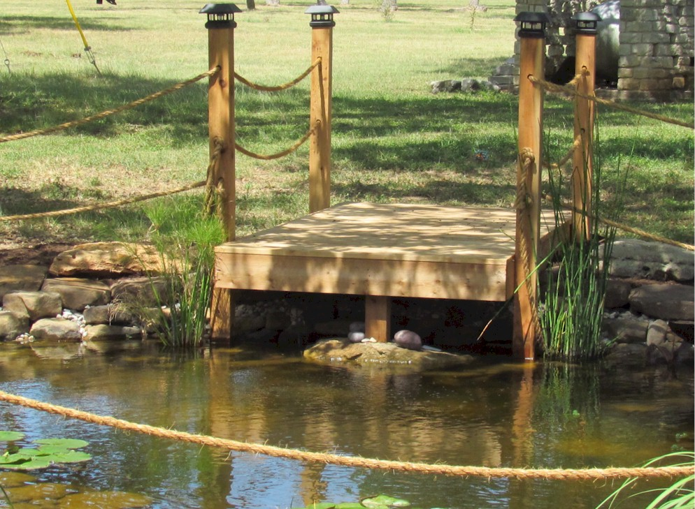 5000 gallon koi pond installation dripping springs texas for Koi pond installation