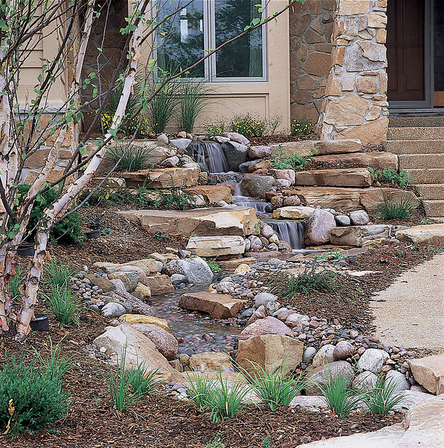 Ponds and pondless water features for sale the pond doctor for Small backyard water features