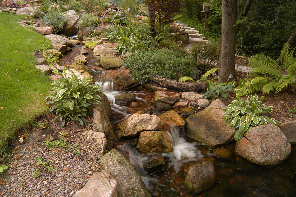 Ponds and pondless water features for sale the pond doctor for Pond features