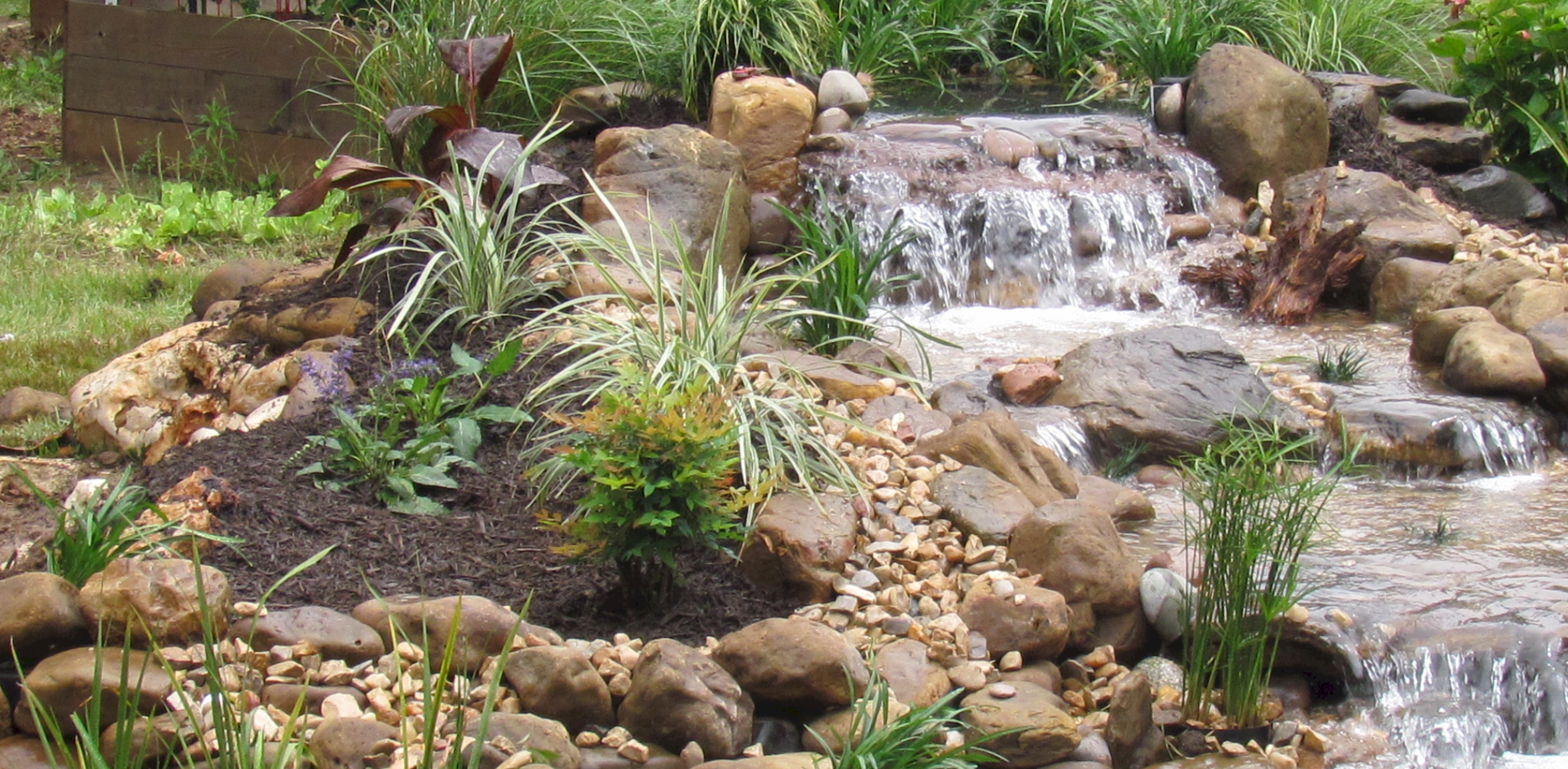 Ponds and pondless water features for sale the pond doctor for Waterfall features
