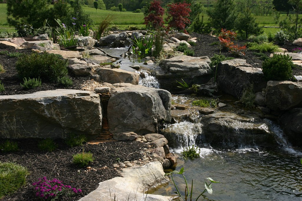 Ponds and pondless water features for sale the pond doctor for Garden pond waterfalls for sale